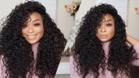 Brazilian Curly Full Lace Human Hair Wigs For Black Women La...