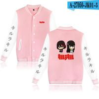 Herrenjacken Töten Sie La Jacket Anime Sweatshirt Süße Stil Mädchen Unisex Sweats Rosa Weiß Dicolor Mode Lässig Nettes Hemd XXS-XXXXL