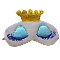 Gözbağı Gölge Göz Maskesi Taşınabilir Pembe / Mavi Renk Sleeping 1PC Prenses Taç Sevimli Göz Kapağı siperliği Eyepatch Seyahat