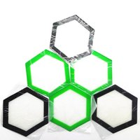 Qualität FDA Lebensmittelqualität wiederverwendbare Antihaftkonzentrat bho Wachs Slick Öl Hexagon Form hitzebeständige Fiberglas Silikon Tupfen Pad Matte