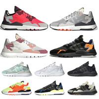 Adidas Nite jogger 3M reflectante Correr Correr Zapatos de hombres mujeres estático Core Negro Naranja Seguridad Vial hielo menta blanca zapatillas de deporte