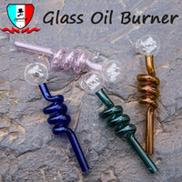 Glass oil burner pipe oil dabber colored wax smoking dabber ...