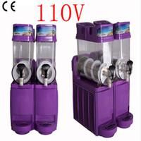 Prix usine commercial 2 réservoir de boisson congelée machine de la machine de contrôle de la température de la tuyauterie de la neige 15L * 2