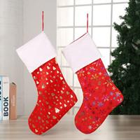벽 크리스마스 장식 8styles RRA2044에 매달려 크리스마스 캔디 양말 선물 가방 크리스마스 트리 장식 양말