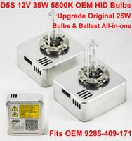 1 Par 12 V 35 W D5S OEM HID Xenon Lâmpada de Substituição de Lastro de Farol All-in-one Branco 5500K OEM 9285-409-171 Atualizado Original 25 W D1S D3S