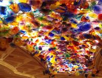 무료 배송 멋진 무라노 유리 데일 치 훌리 (Dale Chihuly) 스타일 여러 가지 빛깔의 무라노 유리 샹들리에 매달려 플레이트 매달려 풍선