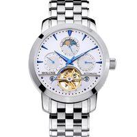 CWP Herrenuhren männlich manueller mechanischer Edelstahl-Skelett Luxus Automatik wasserabweisender Uhr