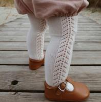 Il bambino scherza cava maglia stretti 2020 cadono nuovi bambini foro calza Spanish Style ragazze dei ragazzi di cotone collant leggings A3340
