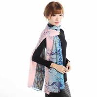 30 Estilos 160X50cm Nueva manera de las mujeres Georgette abrigo largo chal de gasa Beach bufanda de seda bufandas Accesorios de Moda