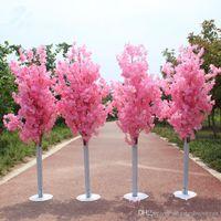يؤدي 1.5M الطول الكرز الاصطناعي الأبيض زهر شجرة الروماني العمود الطريق لحفل الزفاف مول افتتح الدعائم