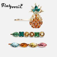 Flatfoosie 2019 New Bohemian Luxury Glass Crystal Hair Clips...