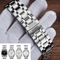 Relógio de aço inoxidável Strap Watch Band 18 mm, 22 mm, 23 mm, 24 mm Watchband Para Tissot 1853 T035 (apenas) Mulheres / homens Watchband T190705