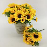 fiori artificiali girasoli tavolo di seta del sole del fiore fiori di seta decorazione della casa fiori finti fai da te seta Bouquet decorazioni di nozze