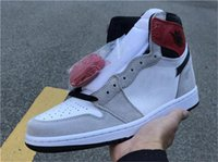 2020 Authentic 1 OG High Light fumo Shoes Grey basquete masculino Retro Black White Varsity Red 555088-126 Running Shoes Sapatilhas Tamanho 7-13
