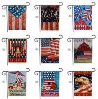 47 * 32см Америка Burlap Добро пожаловать Сад Флаг Закрытый Открытый Двухсторонняя Дом Yard Флаг Home Decor SN4440