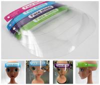 Seguridad niños de los niños de escudo facial transparente para toda la cara cubierta protectora de la película Herramienta anti-vaho Pantalla facial máscaras de diseño 300pcs RRA3045