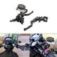 Universal Motorcycle 22mm CNC Brake Clutch Levers Master Cyl...