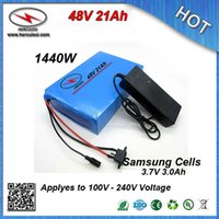 Qualitäts-1000W PVC-Gehäuse Elektro E Fahrrad-Lithium-Batterie 48V 21AH mit S amsung 3,7V 3000mAh Zelle 30A BMS + 54.6V 2A Charger