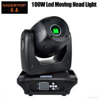 Gigertop TP-L606B 100W LED Spot Moving Head Licht Verdichtete Größe High Power DMX 13 Kanäle 3-Facetten-Prisma Strahlpunktbühnenscheinwerfer reibungslosen Übergang