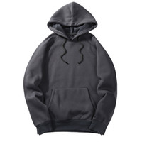 2019 Solid Color Thick Men' s Hoodies 2018 European Size...
