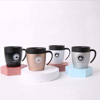 12 Unzen Edelstahl Tumbler Weingläser Kaffeetasse Wasserflasche Doppelwand-Vakuum-Insulated-Bierkrug Küche Bar Trinkgefäß mit Deckel