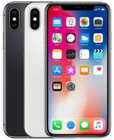 الأصلي مقفلة ابل اي فون X الهواتف المحمولة 64 / 256GB ROM 5.8Inch معرف الوجه 4G LTE iOS A11 12MP المزدوج الخلفي كاميرا 5.8 بوصة الهاتف تجديد