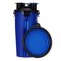 Köpek Su Gezici için Köpek Kaseler Şişe Pet Gıda Konteyner 2'si 1 Katlanır Açık Köpek Su Çanaklar Ücretsiz gönderim