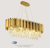 Sala Gold Pendant lâmpadas luxo luz do candelabro de cristal Post Modern Simples Criativo personalizado Sala de jantar Bedro Iluminação LLFA
