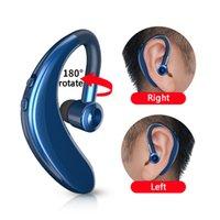 새로운 도착 S109 블루투스 마이크 핸즈프리 통화 이어 훅 무선 이어폰 5.0 이어폰 비즈니스 헤드셋