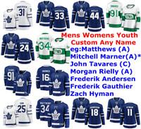 Toronto Maple Leafs Jerseys Womens Auston Matthews Jersey Mitchell Marner John Tavares Andersen Morgan Rielly Hockey camisas personalizadas costurado