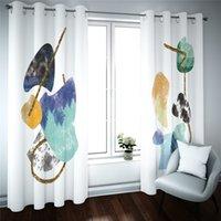3D Blackout Vorhänge Moderne Einfachheit Foto Printed-Vorhang für Kinderzimmer Wohnzimmer-Dekor-Fenster Küche Vorhänge