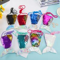 Mini Mermaid Geldbörse Pailletten Mermaid Tail Shape-Münzen-Mappen Pailletten-Münzen-Mappe Mermaid Party-Bevorzugungen Geschenk für Kinder Kinder