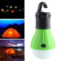 Mini linterna portátil Tienda de campaña LED LED lámpara de emergencia impermeable colgante Flashlight para acampar 4 colores Uso 3 * AAA Envío gratis