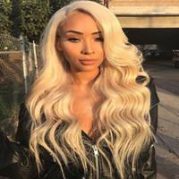 JYZ Dentelle Front Human Hair Perruques # 613 Perruques pleines de dentelle avec une ligne de cheveux blonde Blonde Wave Brésilien Remy Cheveux Perruques avec cheveux bébé