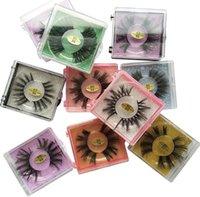 상자 GGA3412-3와 6D 밍크 속눈썹 아이 메이크업 밍크 거짓 속눈썹 소프트 자연 두꺼운 가짜 속눈썹 눈 속눈썹 연장 미용 도구