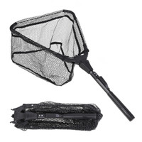 S/M Folding Fish Landing Net Portable Collapsible Triangular  Fishing Net Fish Aluminum alloy + Nylon + Rubber Fishing