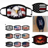 US-Stock-US-Flagge American Eagle Printed Designer-Gesichtsmasken Sternenbanner Mundmaske Outdoor Radfahren Sport Staubdichtes Prozession Masken