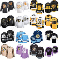 Nome personalizzato Pittsburgh Pinguini Ice Hockey 58 Kris Leang Jersey 2020 Golden Edition 19 Jared McCann 72 Patric Hornqvist 30 Matt Murray