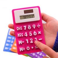 Mini Calculator Opvouwbare Silicone Calculator Zonne-energie CandyColor Creatieve Magnetische Student Kaart Calculadora School Office Gebruik Tool