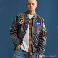 2019 New Nasa Cotton Jackets Men Flight Jacket Ma1 Waterproo...