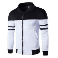 Erkekler Şık Ceket patchwork Sonbahar Spor Coat Fermuar Ceket Tek Breasted Kış Ceket chaqueta hombre Artı boyutu 4XL