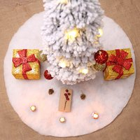 تنورة شجرة عيد الميلاد شجرة عيد الميلاد زخرفة 60/78/90 / 122cm الأبيض أفخم شجرة عيد الميلاد الديكور تنورة حزب اللوازم DBC VT0583
