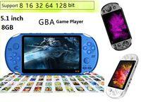 X12 محمول لاعب لعبة 8GB الذاكرة المحمولة الفيديو أنظمة تشغيل الكاميرا مع 5.1 بوصة شاشة ملونة دعم TF بطاقة 32GB MP3 MP4 لاعب دي إتش إل