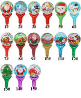 19 Inch Hand Stick Foil Balloon Christmas Santa Clause Tree ...