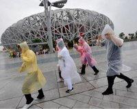 Nuovo PE monouso One Time Impermeabili Poncho impermeabili Fashional Viaggi pioggia cappotto di pioggia regali indossare colori misti 200pc
