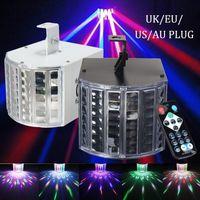 사운드 액티브 DMX 무대 조명 LED 라이트 레이저 RGBW 효과 램프 클럽 디스코 파티 바 조명 (색상 : 블랙 / 화이트)
