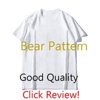 MS Mens Designer camicia di lusso Bear modello T di modo Mens maniche corte stampa 2020 2colors estate Trendy T-shirt all'ingrosso