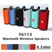 TG113 Bluetooth Kablosuz Speakers Sabvufırlar Eller serbest Çağrı Profili Stereo Bass Destek TF USB Kart AUX Line In Hi-Fi 1200mAh batarya