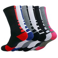 Neue Männer Outdoor Sports Elite Basketball Männer Radsocken Dickere Handtuch Bottom Male Kompressionssocken Herrensocken