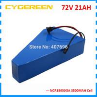 3000W 72V 20AH ebike pil 72V 21AH Lityum üçgen pil 72V bisiklet pil kullanım GA 3500mah hücre 50A BMS